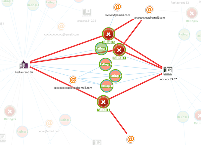 our review fraud visual data model