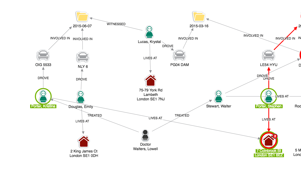 graph visualization - insurance fraud - keylines - screenshot4