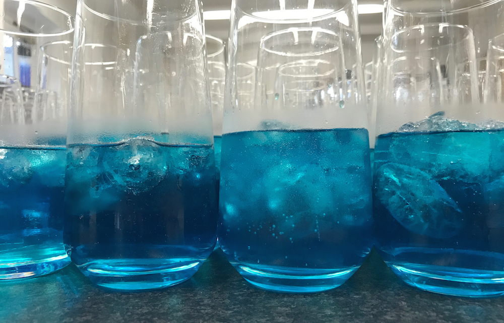 Our new signature cocktail - the Cambridge Blue Monday