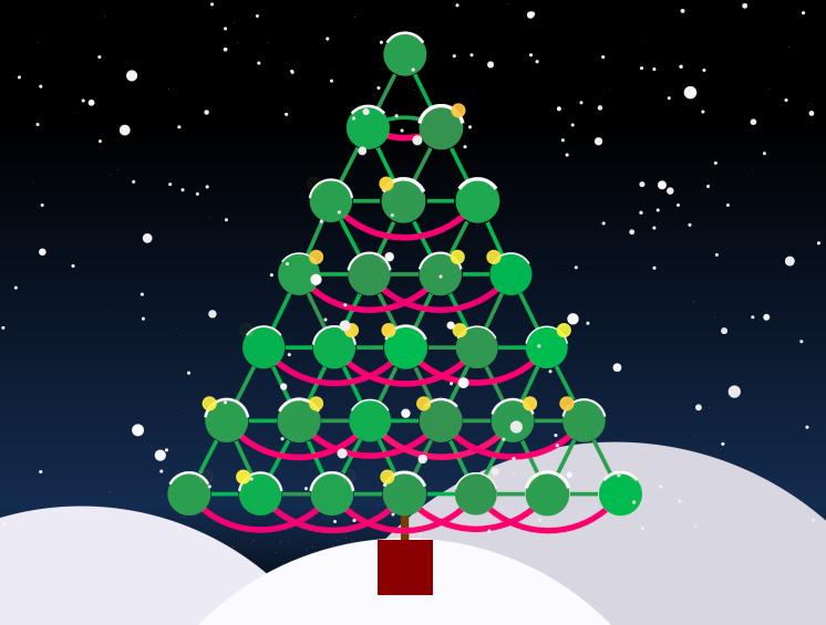 KeyLines nodes ensuring a white Christmas