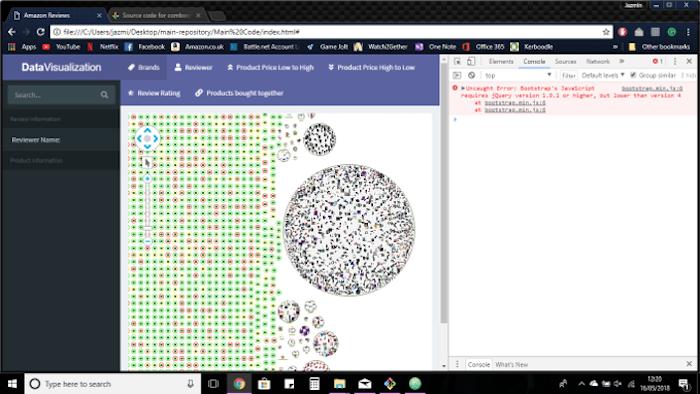 A screenshot of a student application under development