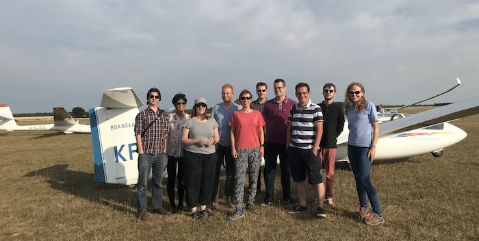 The Cambridge Intelligence gliding squad