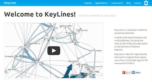 the first version of the KeyLines website