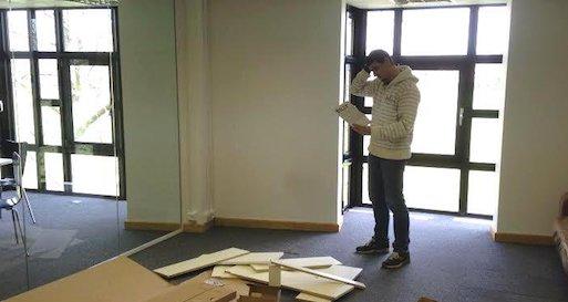 building flatpack furniture in our Cambridge HQ