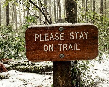 Please stay on trail
