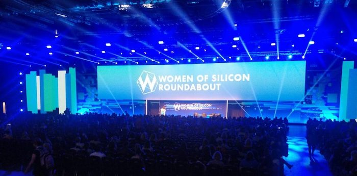 One of the inspiring talks at Women of Silicon Roundabout 2019 in London, UK
