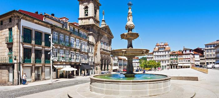 The beautiful university city of Guimarães, northern Portugal