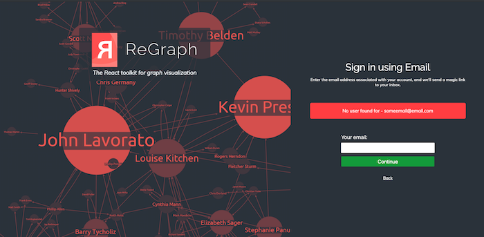 ReGraph login page