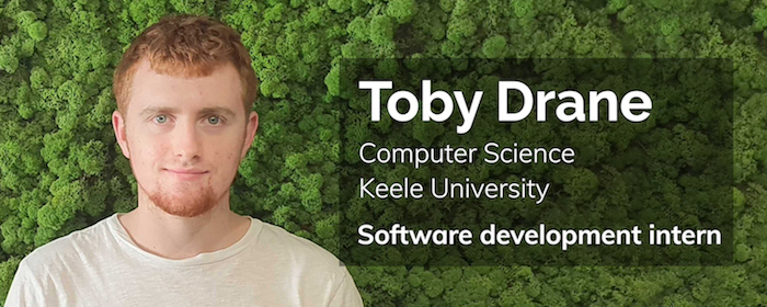 toby drane, computer science, keele university, software development intern