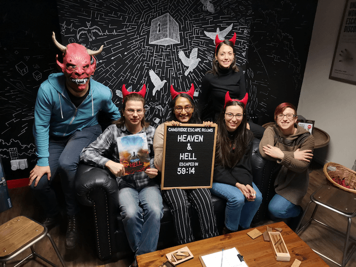 January's social event was a trip to Escape Rooms