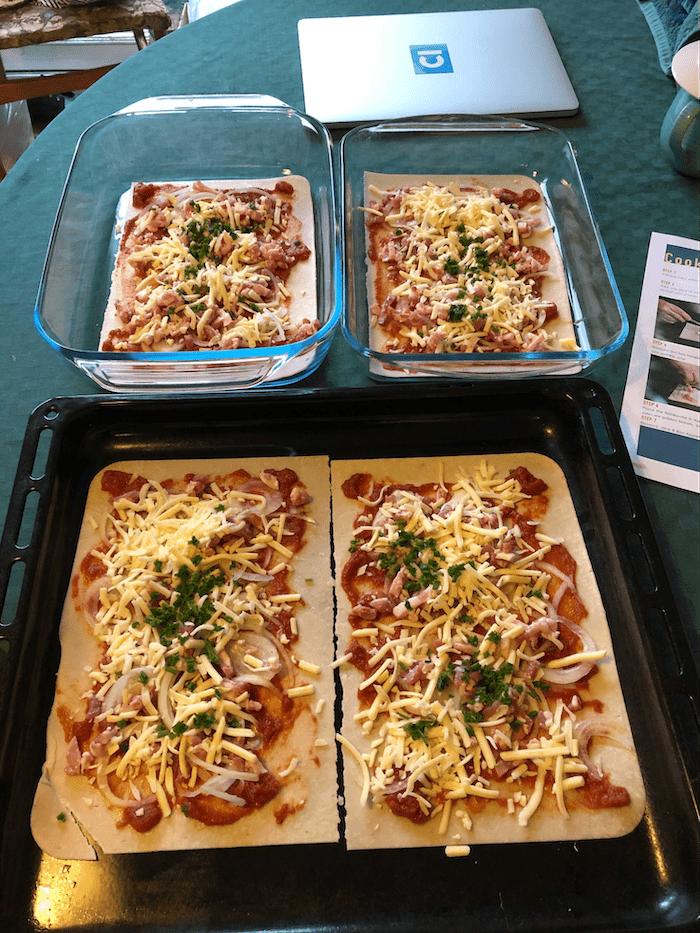 Four homemade pizzas courtesy of Cambridge Intelligence